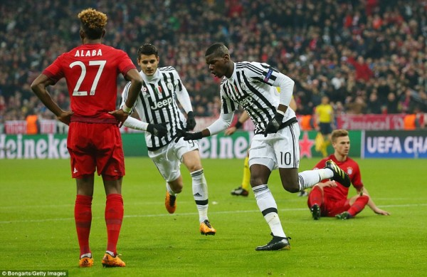 Pogba rejoices after first goal
