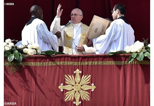 Pope Francis: delivering his Easter Message