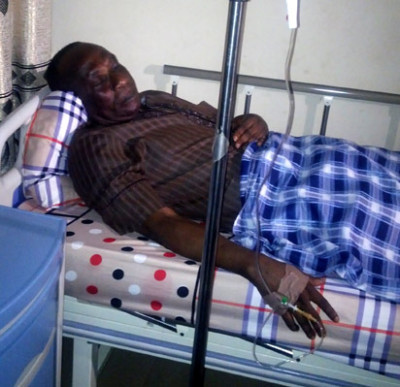 Akanni on his hospital bed in Abuja