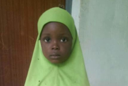 a three year-old girl rescued in Ma'Ala from Boko Haram