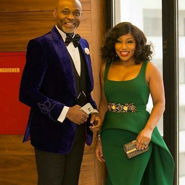 Mofe Damijo, looking dapper as usual. Well complemented by beautiful Rita Dominic
