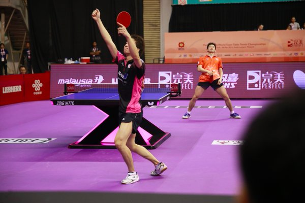 A Chinese player at the Malaysia tourney