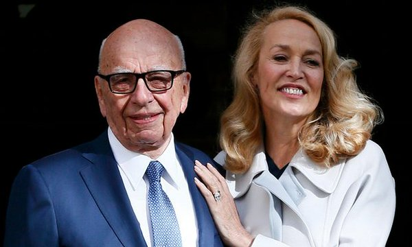 Murdoch and Jerry Hall