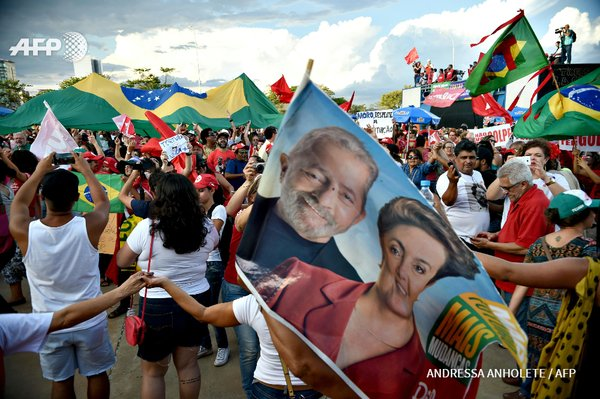 Supporters of Dilma Rousseff