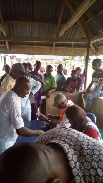 Rivers: some voters doing accreditation and voting simultaneously