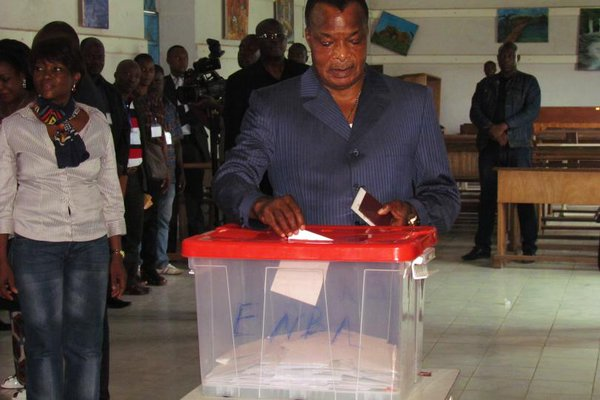 President Nguesso: opposition disputes poll result