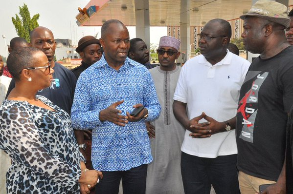Kachikwu on a tour of fuel stations