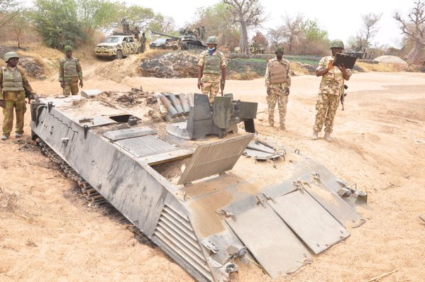 The abandoned APC by Boko Haram
