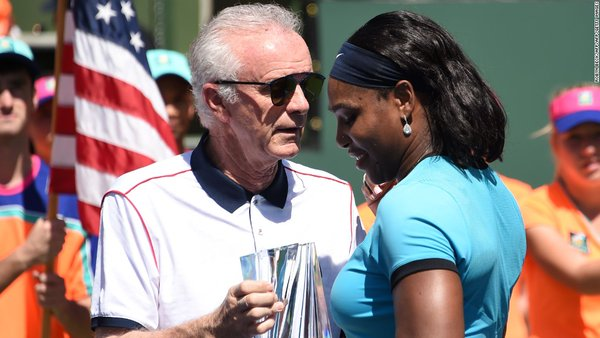 Raymond Moore, left: Serena Williams says remark inappropriate