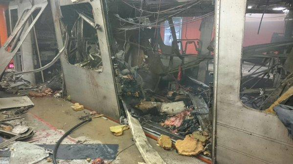 Brussels metro station hit this morning