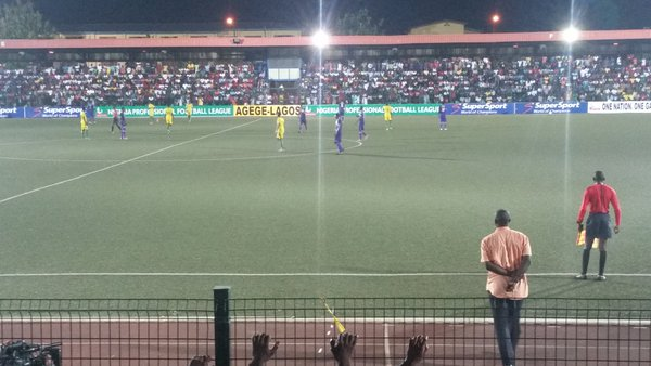 MFM and Kano Pillars on Agege Pitch on Wednesday night