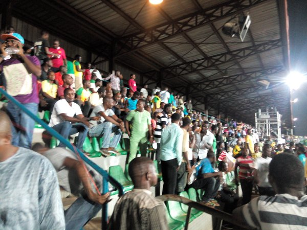 Part of the crowd that came to watch MFM and Kano Pillars