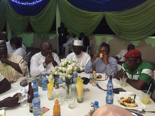 El-Rufai during dinner for the Eagles