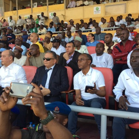 El-Rufai with other guests during the game