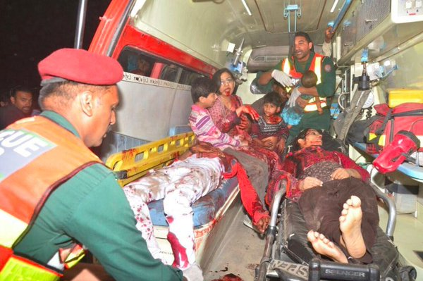 many children were victims of the Taliban suicide bombing