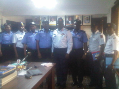 CP Lagos State, Owoseni, and senior officers of Nigerian Police and Commandant Nigeria Air Force and his men at Cp office on Tuesday