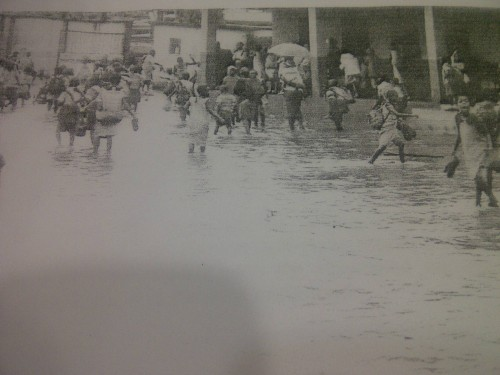 The flooded Lagos school, close to Alausa