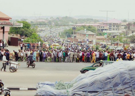 Ogun workers at a rally