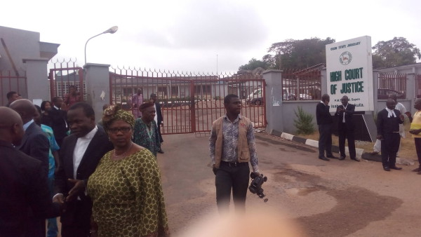 Disappointed lawyers and litigants at Abeokuta High Court today