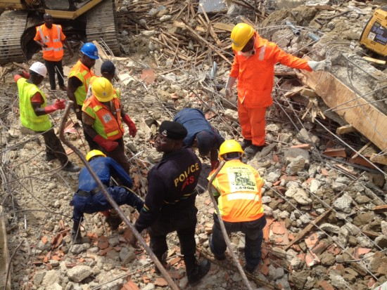 Rescue officials kept on removing dead bodies