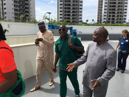 Dalung with some of the officials