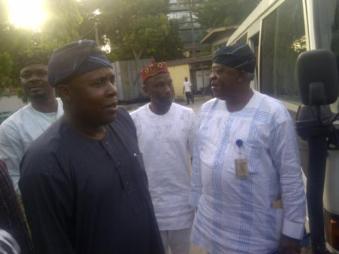 Ogunyemi and members of his team at the college: Government must do something urgently