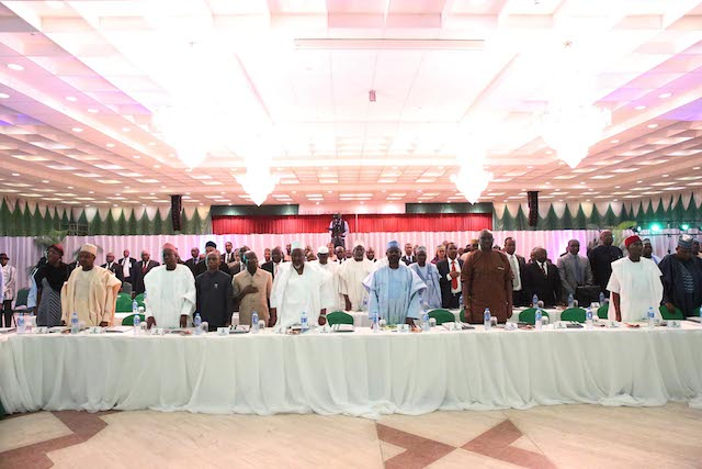 Governors at the retreat