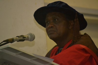 Professor Lekan Oyeleye delivering his inaugural lecture