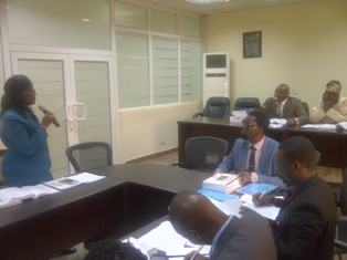 The Committee with Mrs. FS Adesoye, of the Ministry of Local Government, Establishment, Training and Pensions.