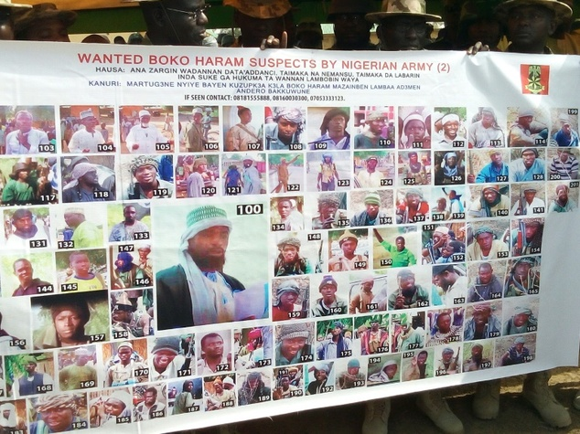 The new Boko Haram wanted list