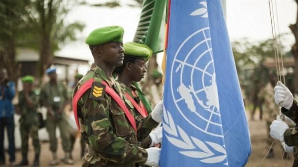 UN peacekeepers in Central Africa