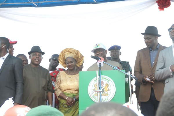 Wike at the Ahoada rally today