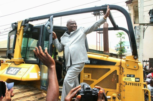 Nyesom Wike campaigning at Obio/Akpor today