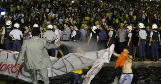 Anti Rousseff protest in Brazil