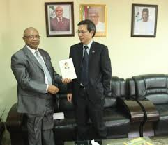 Mr Zhao Linxiang , left and permsec ministry of interior