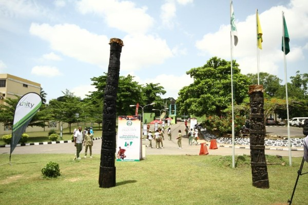 16-ft drums at the first ever Nigerians Drums Festival. Photo Credit Idowu Ogunleye.