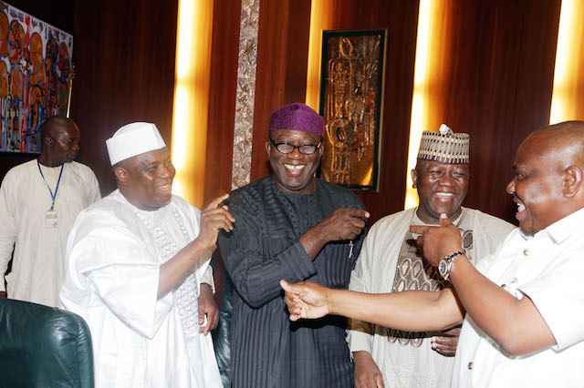 It started like this: Tambuwal wagging a finger at Wike, probably saying you 'Militant of Rivers'