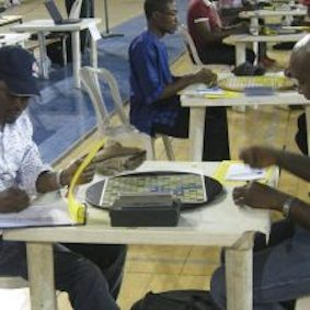 Players at a past national Scrabble championship