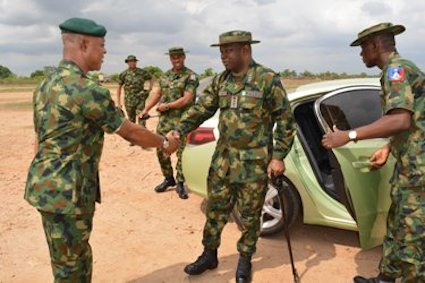 CDS General Olonisakin arrives at the exercise ground