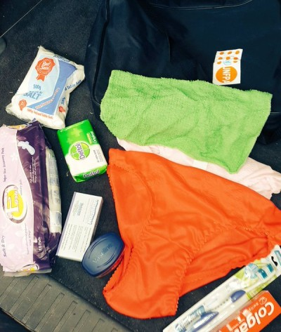 items inside a UNFPA dignity pack