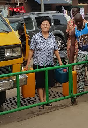 petrol scarcity: A woman goes to try her luck