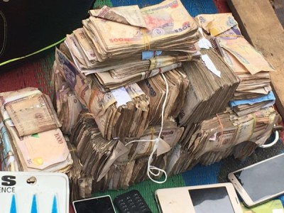 Money recovered from the gang