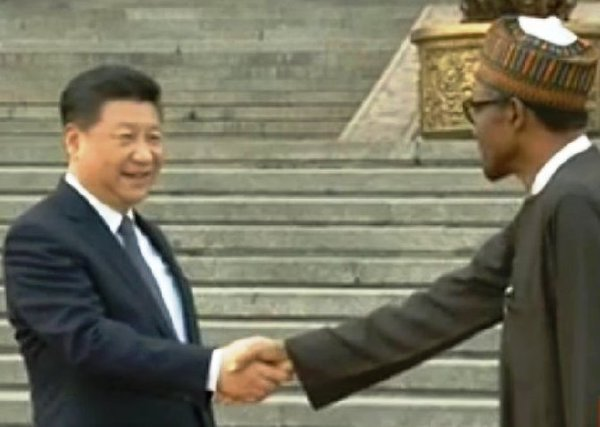 President Xi Jinping welcomes Buhari to Great Hall of the People