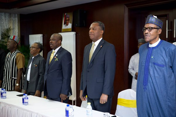 A cross section of Team PMB in China, including governors and foreign minister Geoffrey Onyeama
