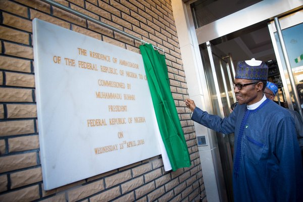 Buhari commissions the residence of Nigerian ambassador in China