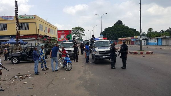Congo policemen on the streets today