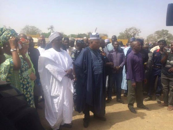 Governor Shettima and other delegation from Abuja in Chibok on Thursday