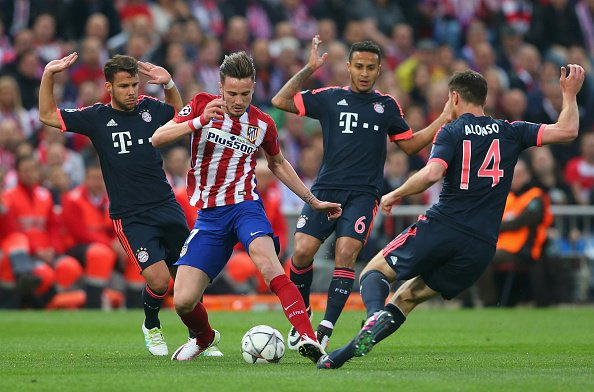 Saul Niguez going for the killer punch