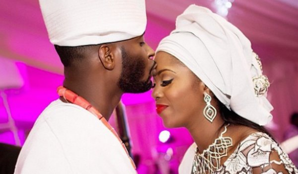 Tiwa and Balogun when they married 4 years ago