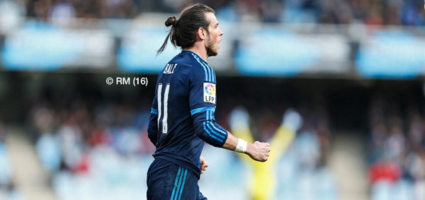 Gareth  Bale, after the decisive lone goal. Real Madrid Photo